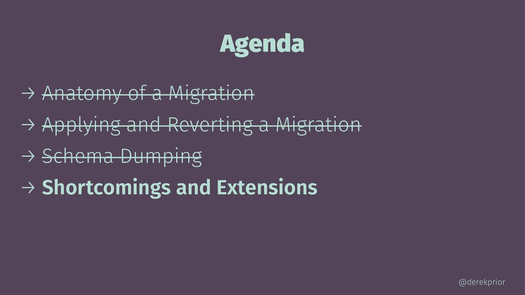 Agenda → Anatomy of a Migration → Applying and ...