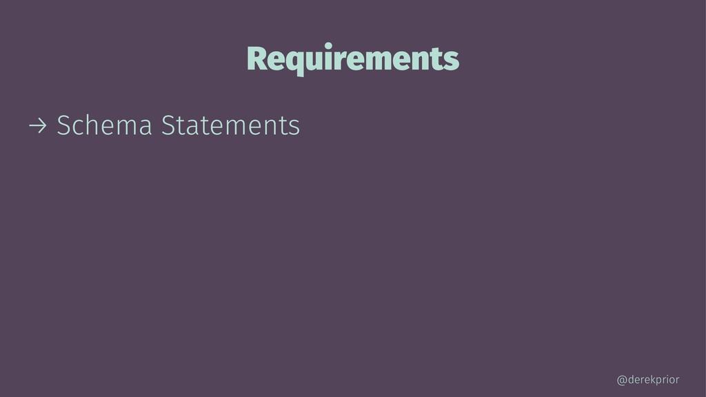 Requirements → Schema Statements @derekprior