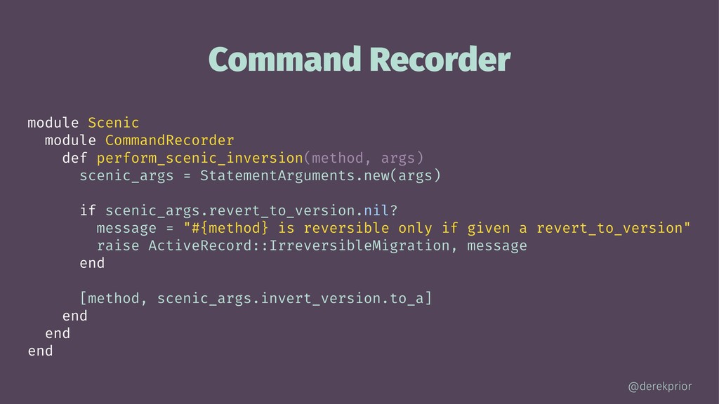 Command Recorder module Scenic module CommandRe...