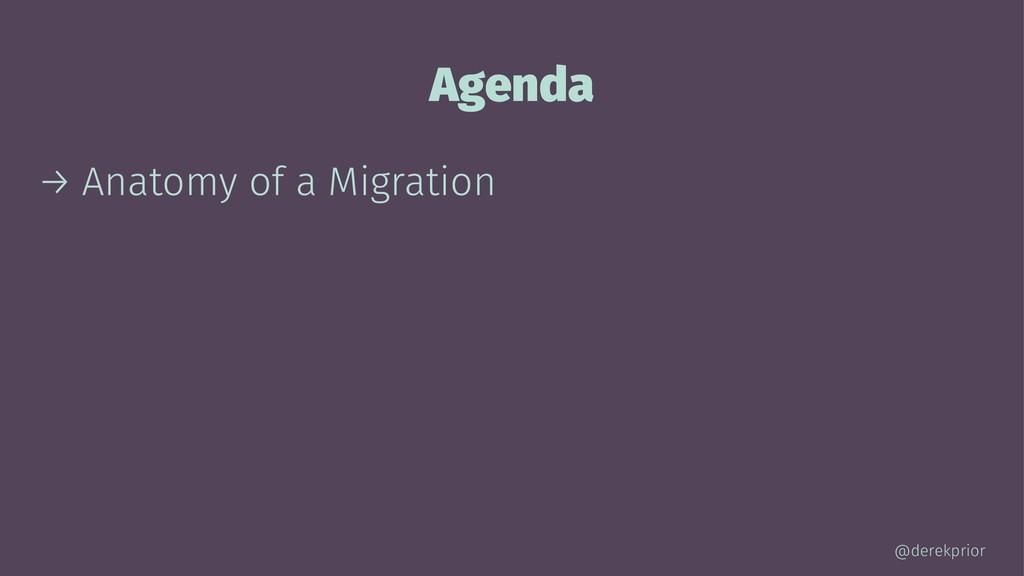 Agenda → Anatomy of a Migration @derekprior