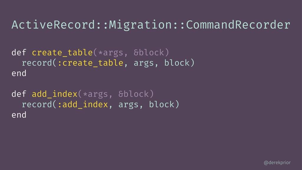 ActiveRecord::Migration::CommandRecorder def cr...