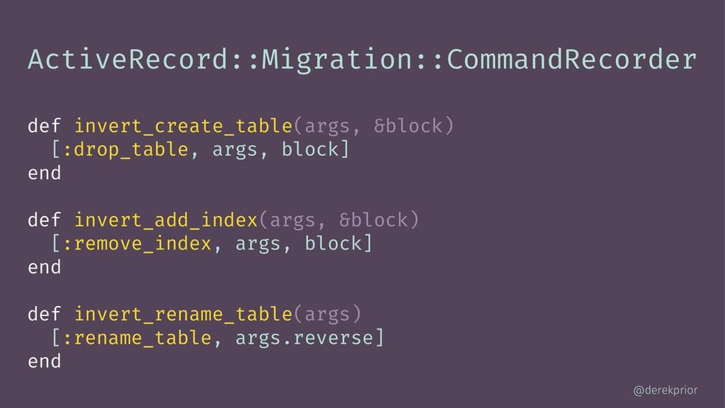 ActiveRecord::Migration::CommandRecorder def in...