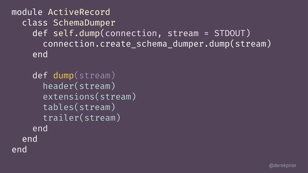 module ActiveRecord class SchemaDumper def self...