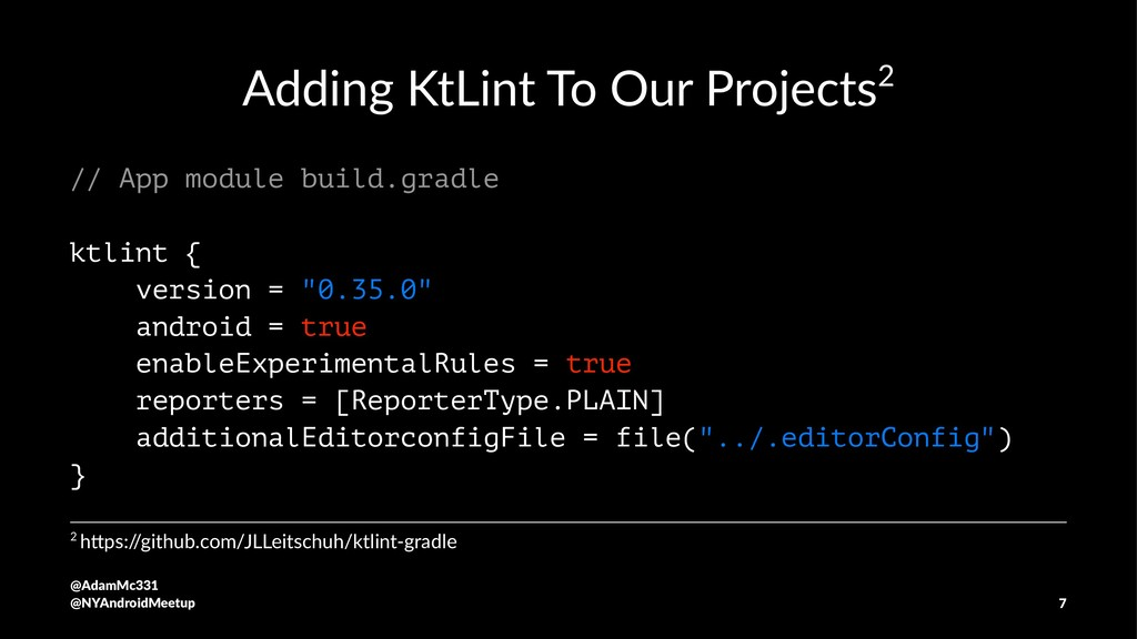 Adding KtLint To Our Projects2 // App module bu...