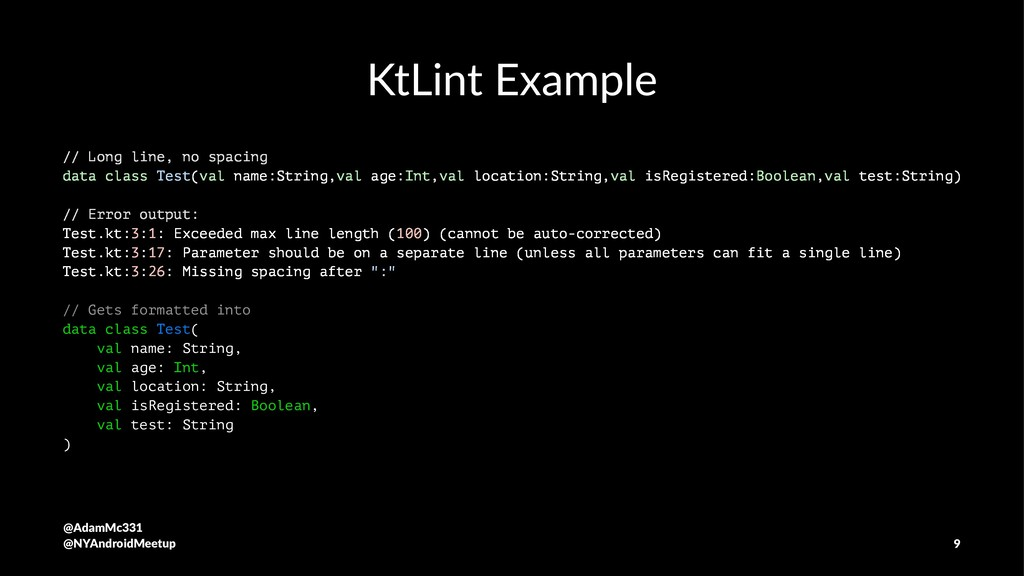 KtLint Example // Long line, no spacing data cl...