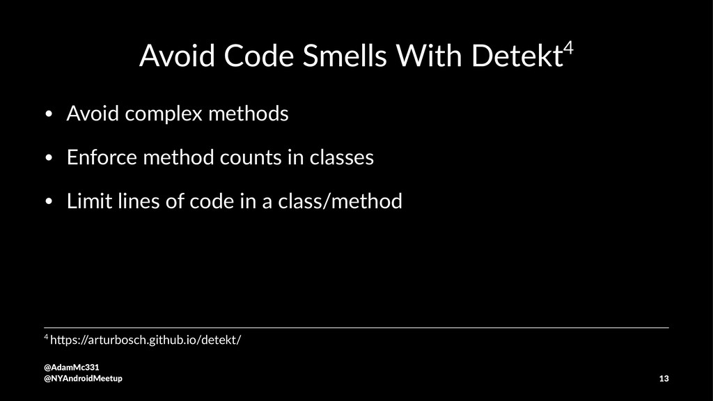 Avoid Code Smells With Detekt4 • Avoid complex ...