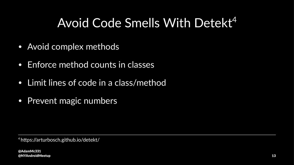 Avoid Code Smells With Detekt4 • Avoid complex ...