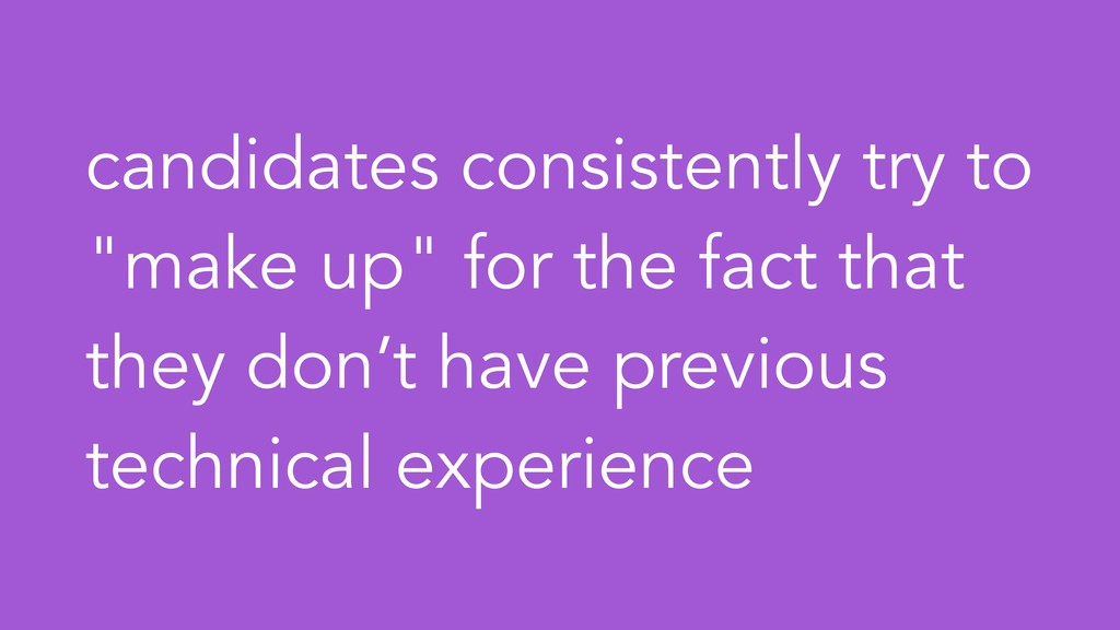 "candidates consistently try to ""make up"" for th..."