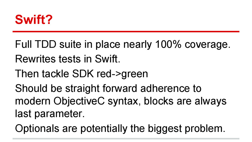 Full TDD suite in place nearly 100% coverage. R...