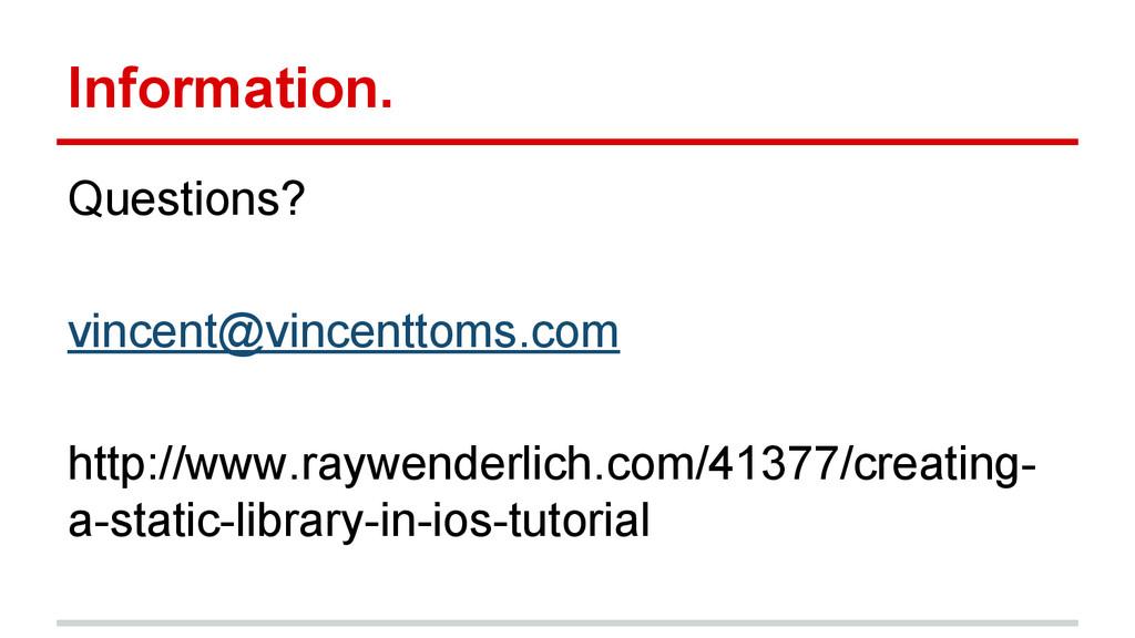 Information. Questions? vincent@vincenttoms.com...