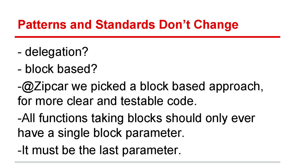 Patterns and Standards Don't Change - delegatio...