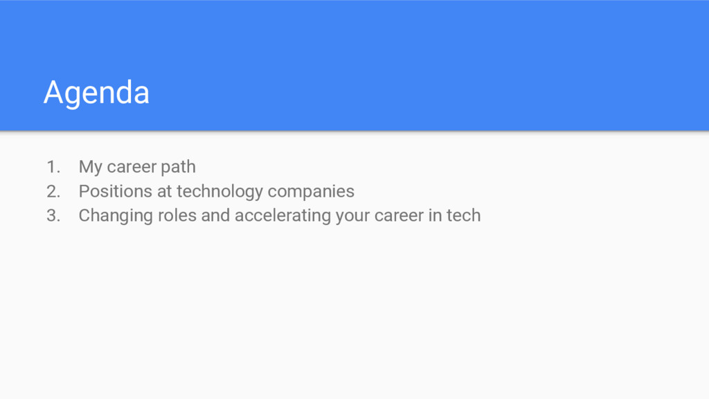 Agenda 1. My career path 2. Positions at techno...