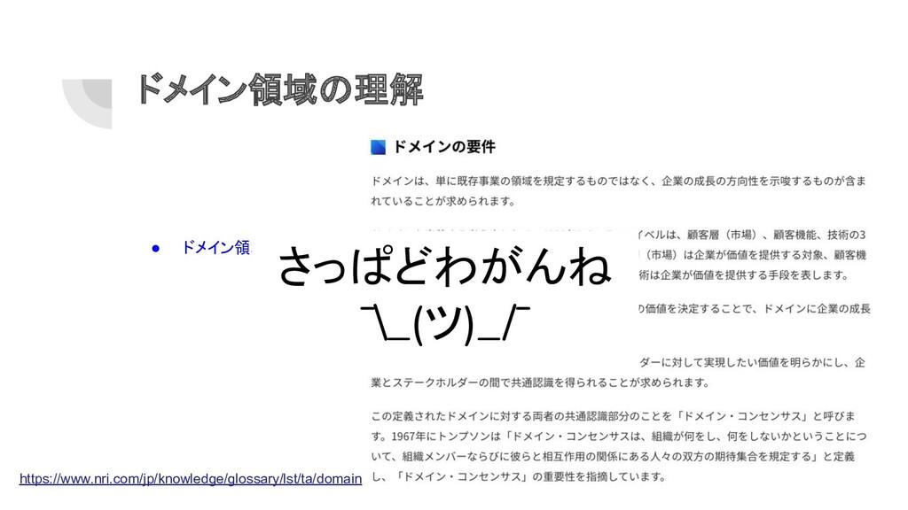 ドメイン領域の理解 ● ドメイン領域とは? https://www.nri.com/jp/kn...