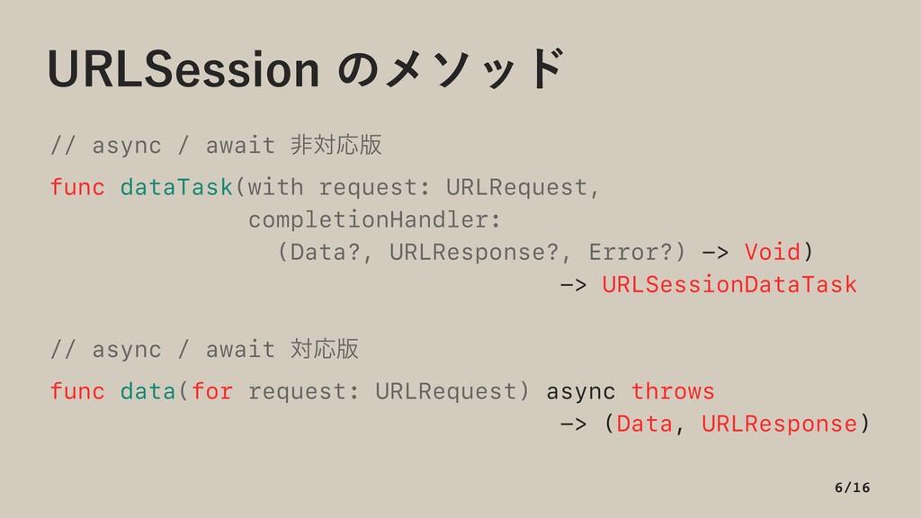 63-4FTTJPOͷϝιου // async / await ඇରԠ൛ func dat...