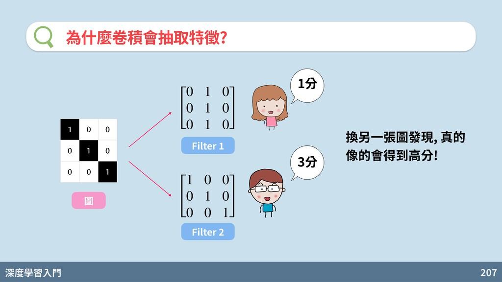 深度學習入門 207 為什麼卷積會抽取特徵? [ 0 1 0 0 1 0 0 1 0 ] 1 ...