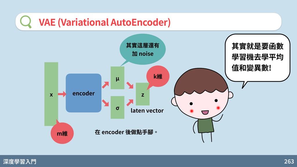 深度學習入門 263 VAE (Variational AutoEncoder) encode...