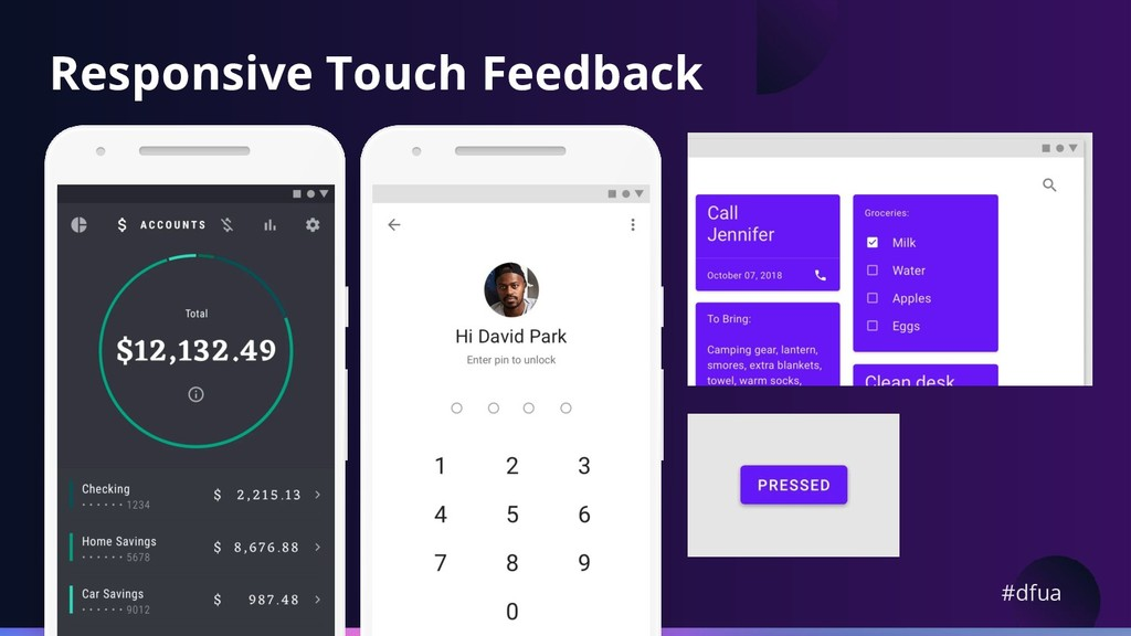 #dfua Responsive Touch Feedback