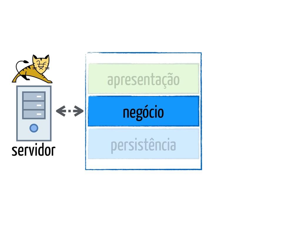 servidor apresentação negócio persistência