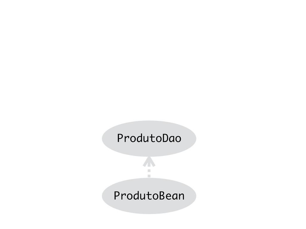ProdutoBean ProdutoDao