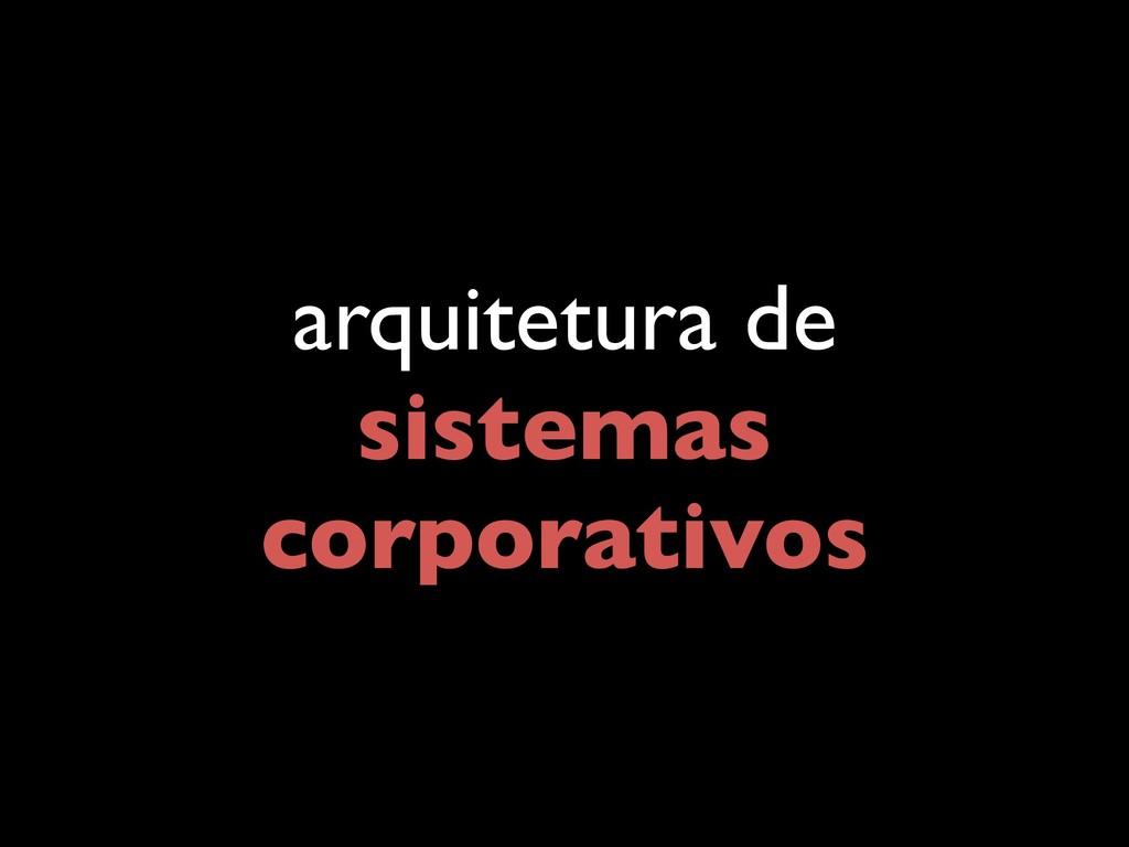 arquitetura de sistemas corporativos