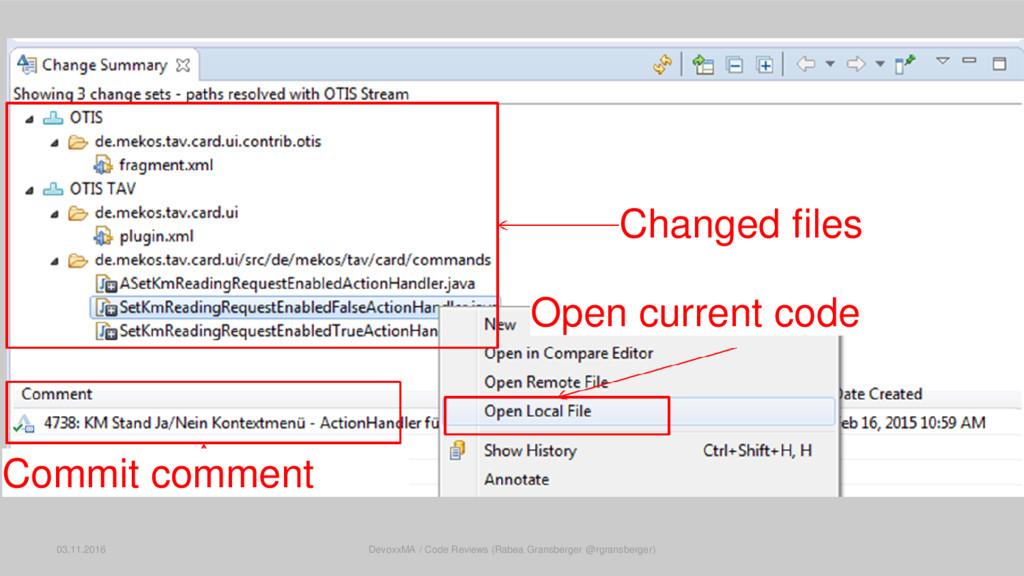 RTC: Change Summary 03.11.2016 DevoxxMA / Code ...