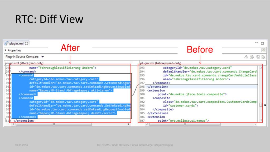 RTC: Diff View 03.11.2016 DevoxxMA / Code Revie...