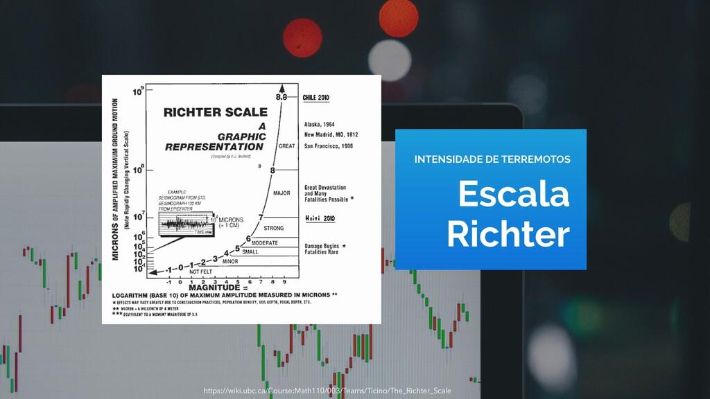 Escala Richter INTENSIDADE DE TERREMOTOS https:...