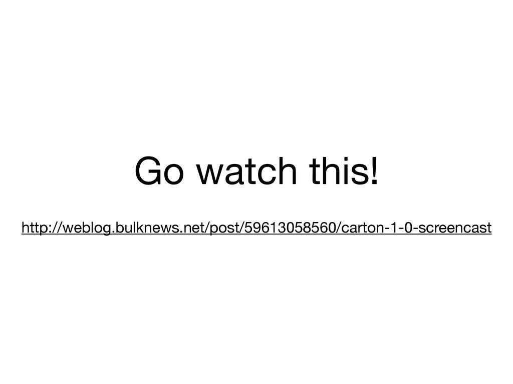 Go watch this!  ! http://weblog.bulknews.net/po...