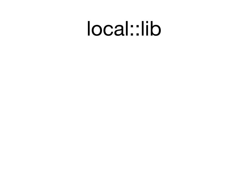 local::lib