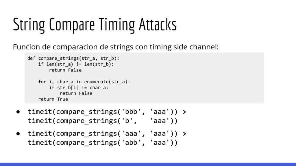 String Compare Timing Attacks Funcion de compar...