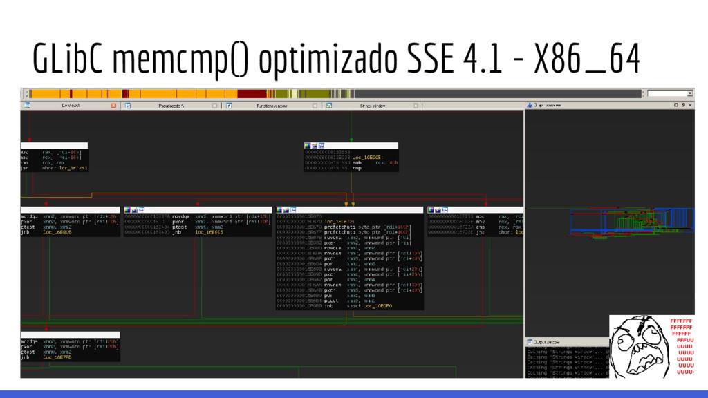 GLibC memcmp() optimizado SSE 4.1 - X86_64
