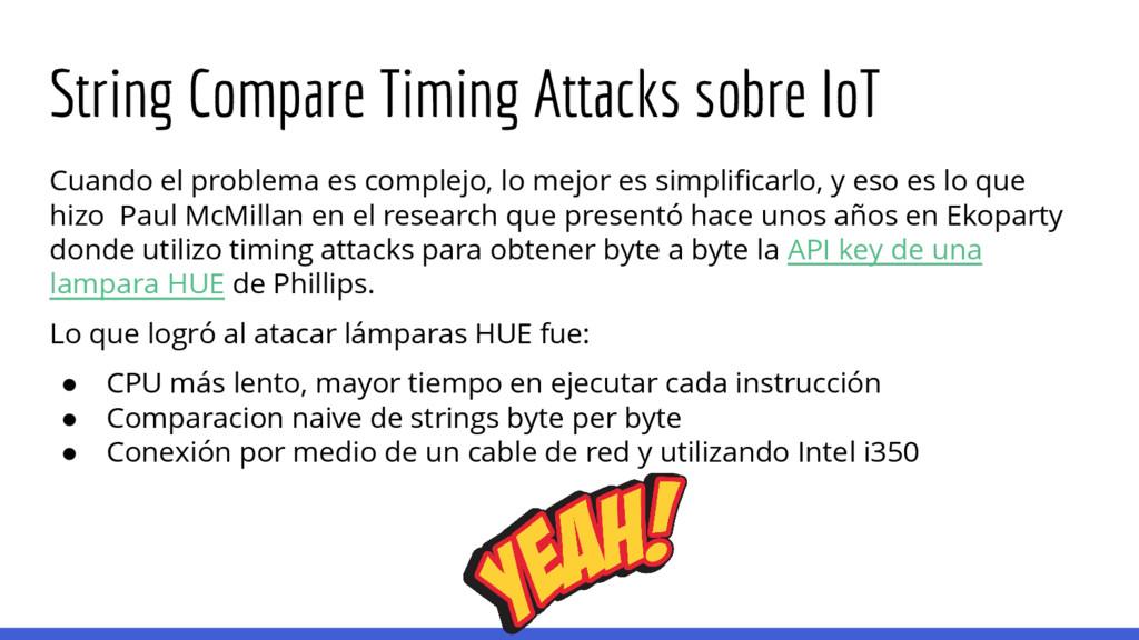 String Compare Timing Attacks sobre IoT Cuando ...