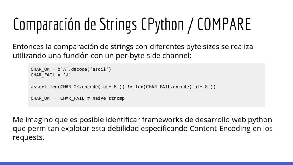 Comparación de Strings CPython / COMPARE Entonc...