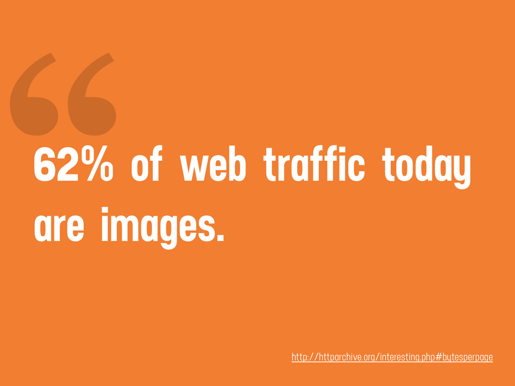 """ 62% of web traffic today are images. http://h..."