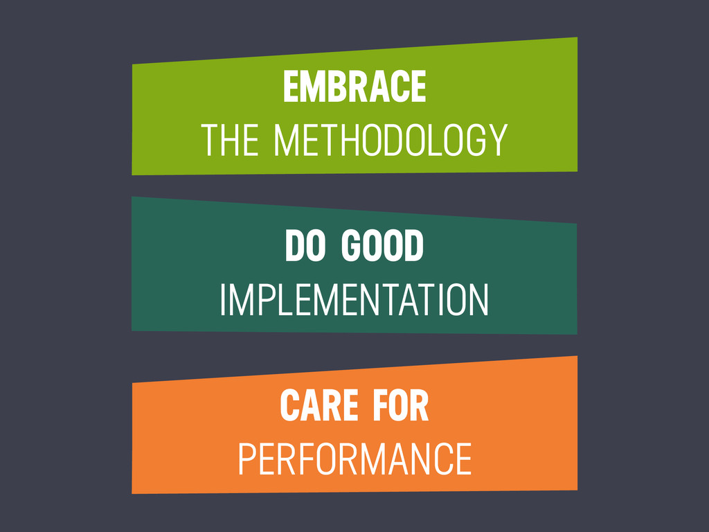EMBRACE THE METHODOLOGY DO GOOD IMPLEMENTATION ...