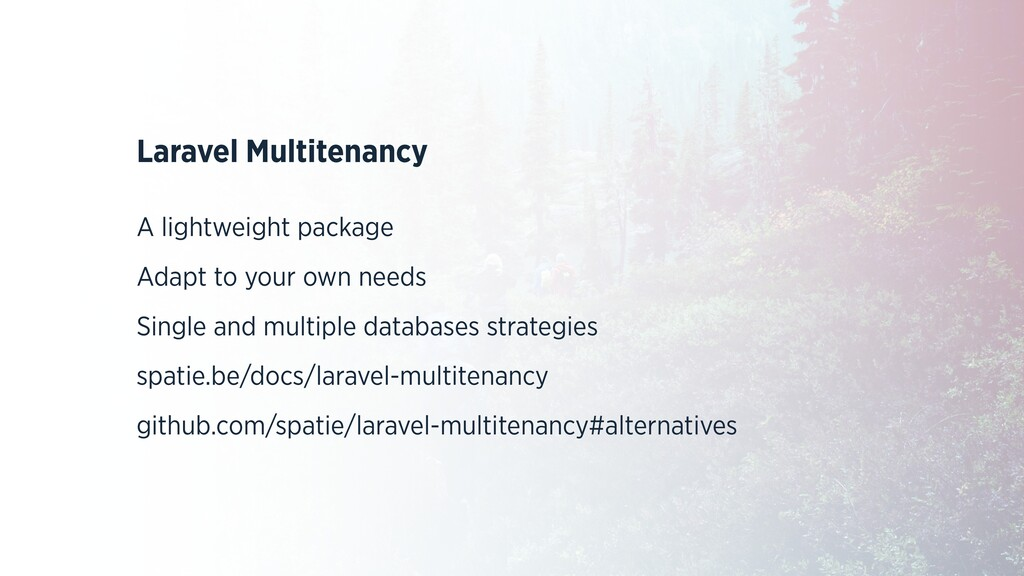 Laravel Multitenancy A lightweight package Adap...