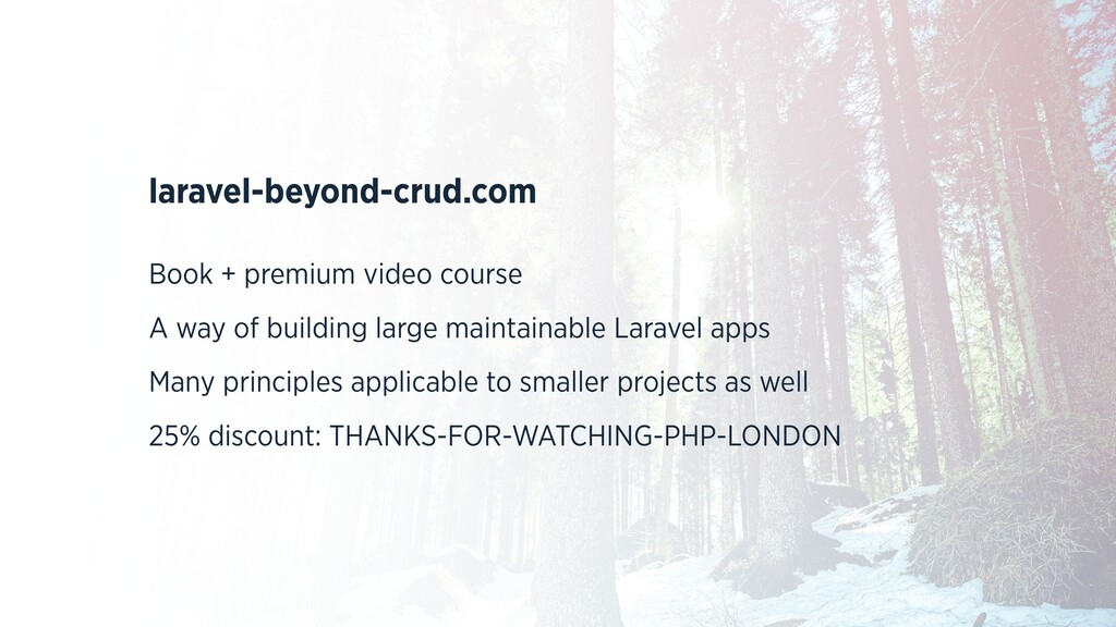 laravel-beyond-crud.com Book + premium video co...