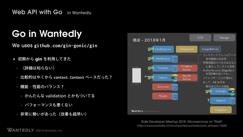 ©2018 Wantedly, Inc. Go in Wantedly We uses git...