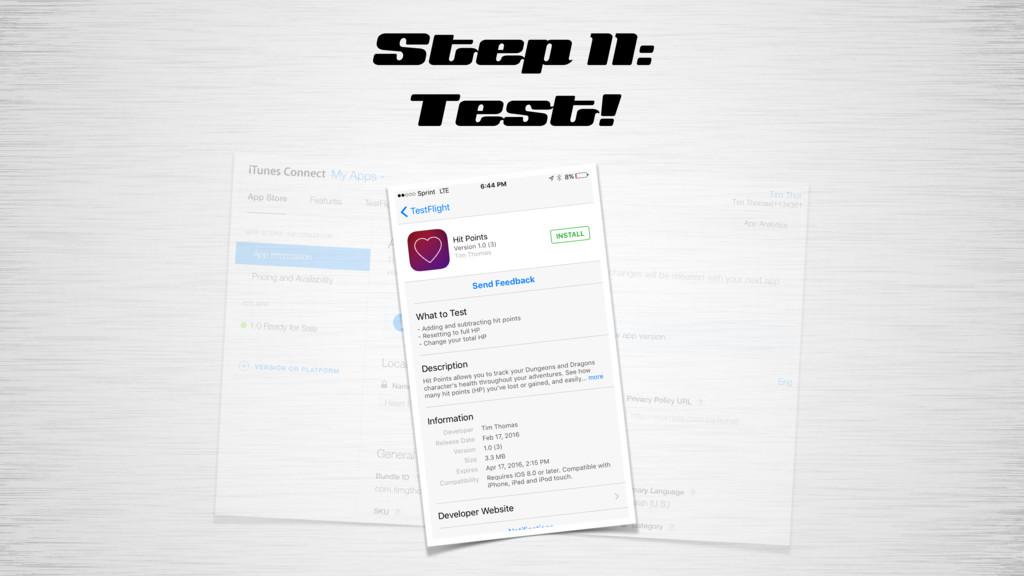 Step 11: Test!