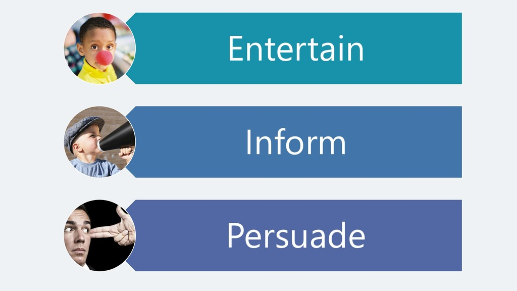 Entertain Inform Persuade