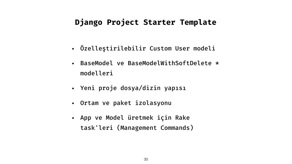 Django Project Starter Template • Özelleştirile...