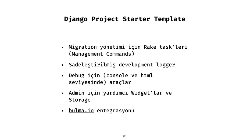 Django Project Starter Template • Migration yön...