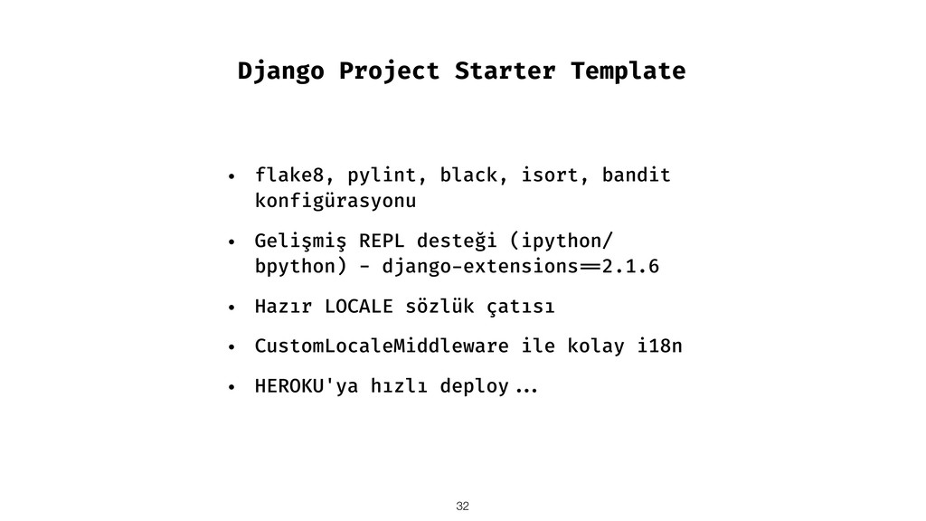 Django Project Starter Template • flake8, pylin...