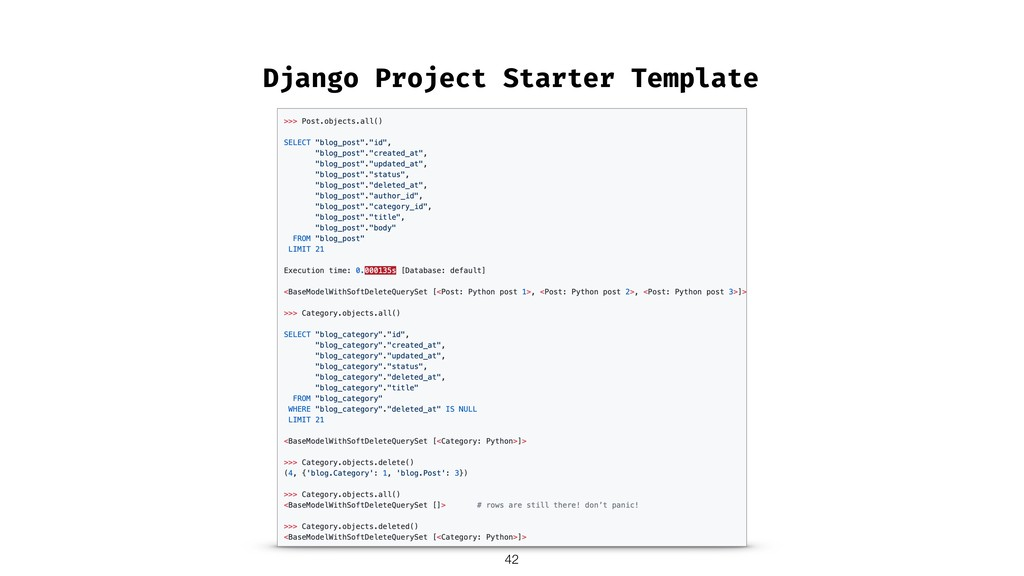 Django Project Starter Template !42