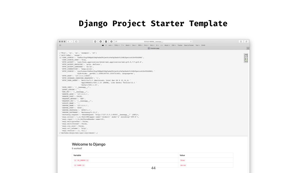Django Project Starter Template !44