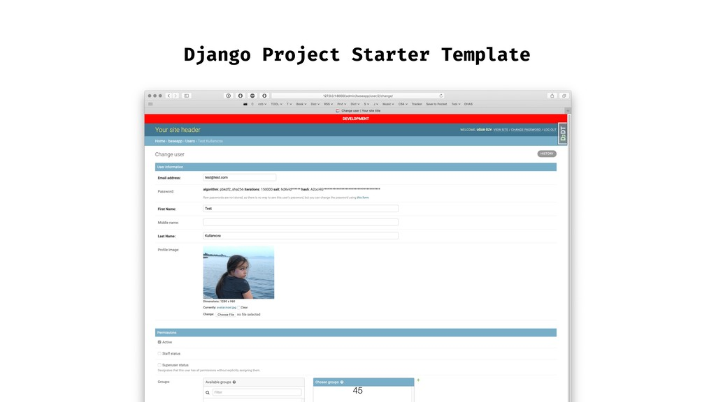 Django Project Starter Template !45