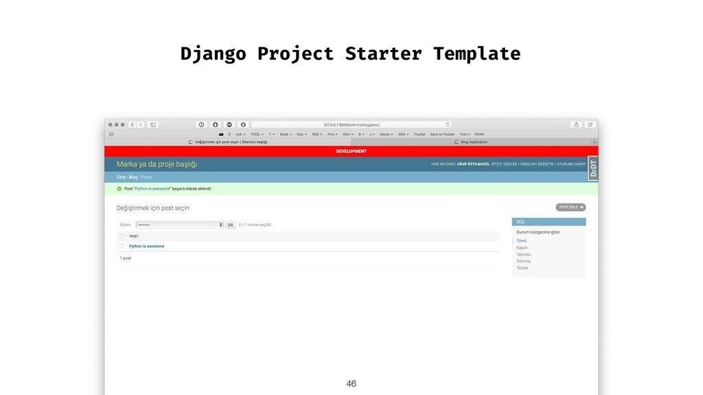 Django Project Starter Template !46