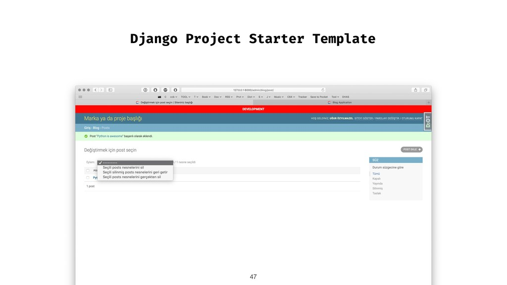 Django Project Starter Template !47