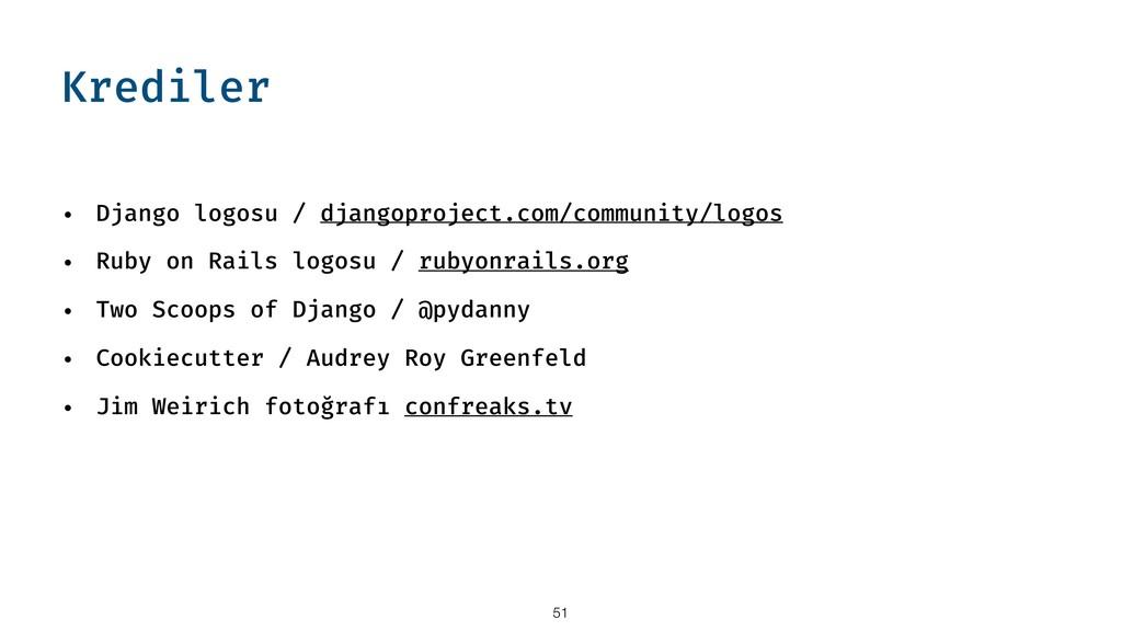 Krediler • Django logosu / djangoproject.com/co...