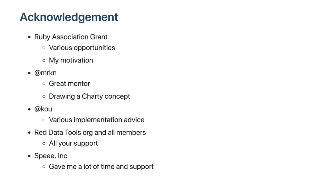 Acknowledgement Ruby Association Grant Various ...